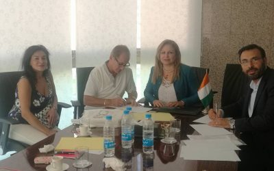 Signing a representation agreement in Africa and Ivory Coast at the Ivory Coast Embassy in Lebanon