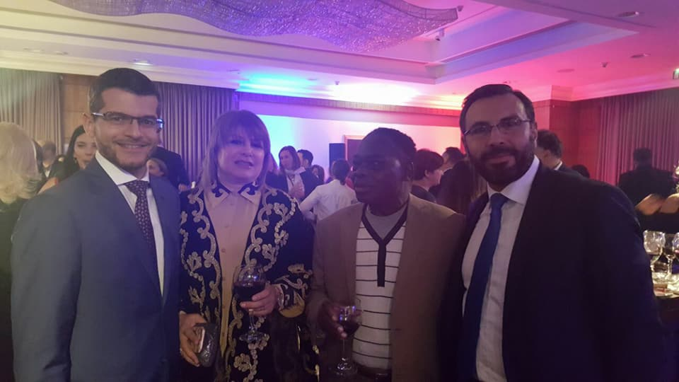 With HE the Frinsh ambassador , and the Ivory coast ambassador