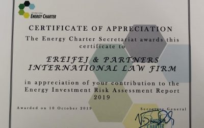 Ereifej & Partners International Law Firm part of International Energy Charter, for EIRA2019
